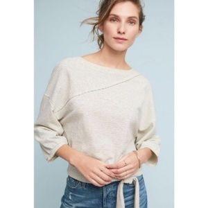Anthropologie Postmark Bianca Striped Sweatshirt